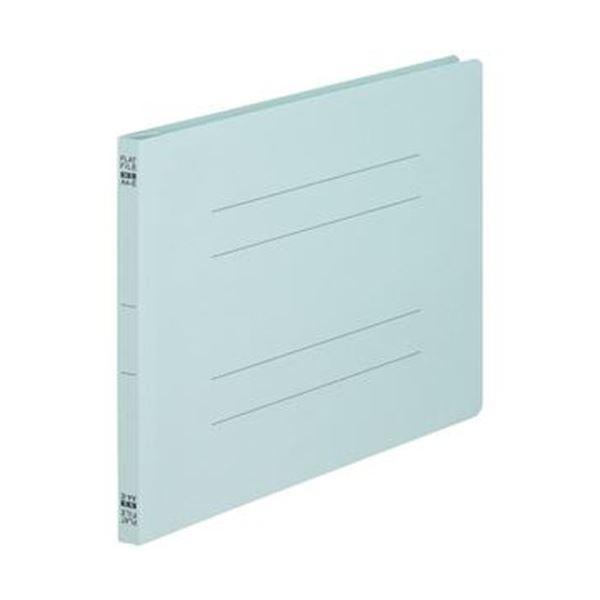 (まとめ)TANOSEE フラットファイル(ノンステープルタイプ)A4ヨコ 150枚収容 背幅18mm 青 1セット(100冊:10冊×10パック)【×3セット】