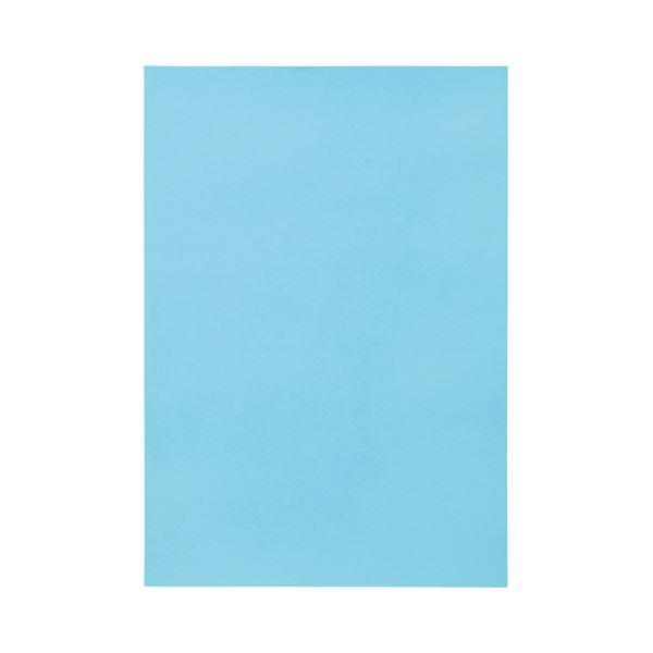 (まとめ) TANOSEE 色画用紙 八つ切 みずいろ 1パック(10枚) 【×50セット】