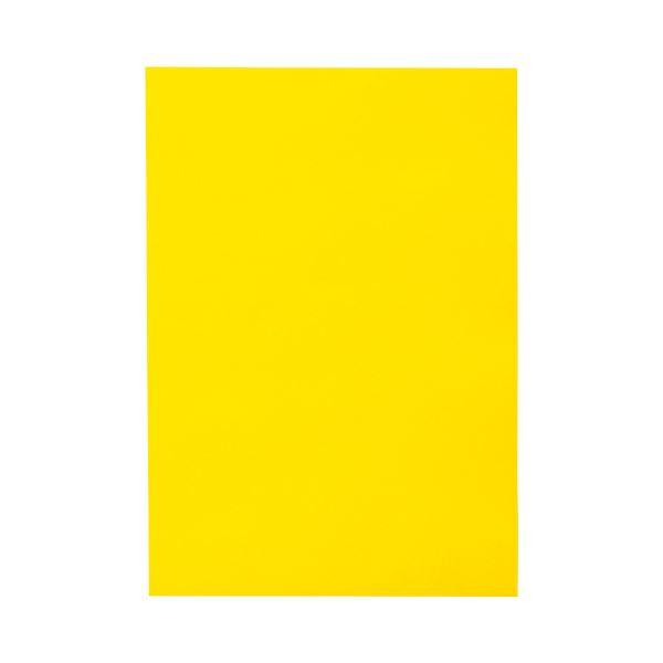 (まとめ) TANOSEE 色画用紙 八つ切 ひまわり 1パック(10枚) 【×50セット】