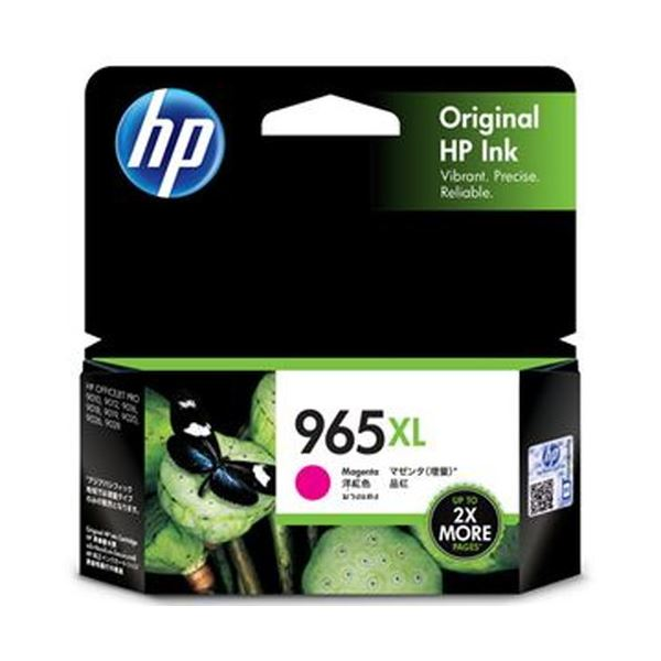 (まとめ)HP HP965XL インクカートリッジマゼンタ 3JA82AA 1個【×5セット】