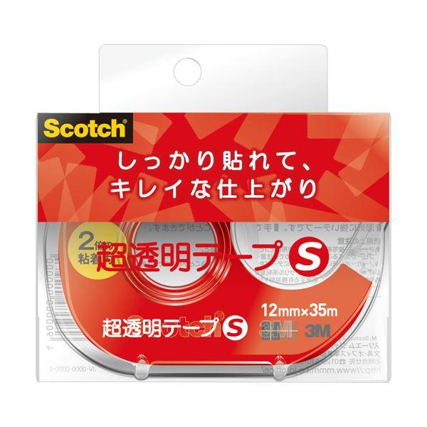 (まとめ) 3M スコッチ 超透明テープS 600小巻 12mm×35m ディスペンサー付 600-1-12DN 1個 【×30セット】