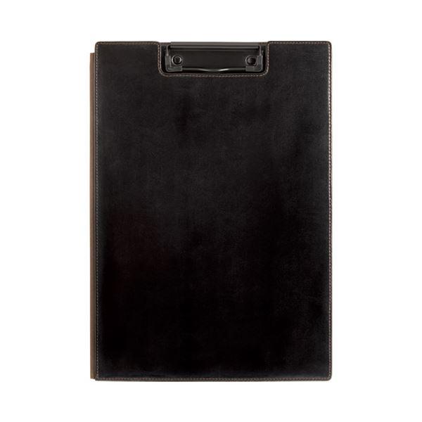 (まとめ)キングジム レザフェス クリップボード 1932LFクロ【×5セット】
