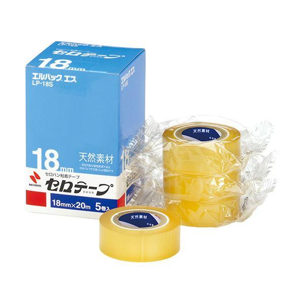 (まとめ) ニチバン セロテープ エルパック エス 小巻 18mm×20m LP-18S 1パック(5巻) 【×10セット】
