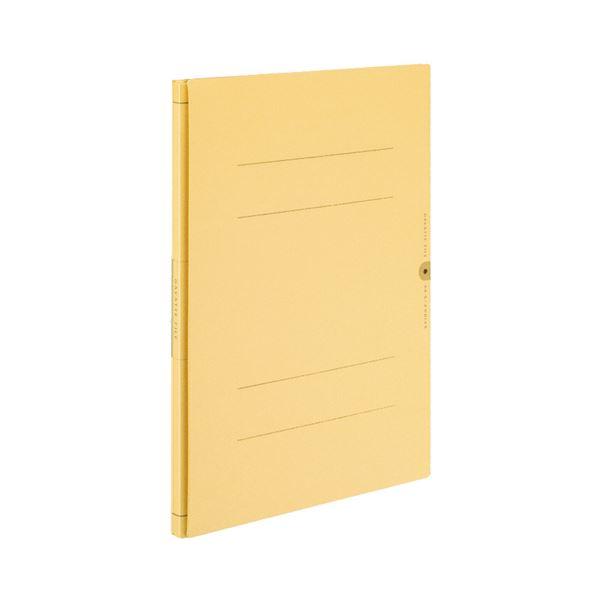(まとめ) コクヨ ガバットファイル(活用タイプ・紙製) A4タテ 1000枚収容 背幅14~114mm 黄 フ-VA90Y 1冊 【×30セット】
