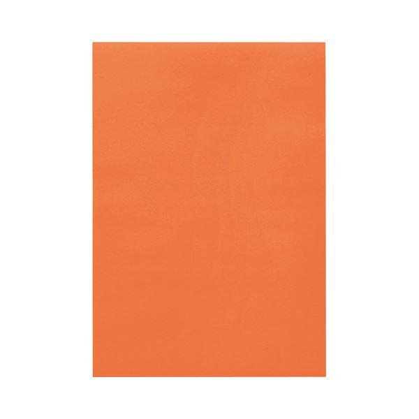 (まとめ) TANOSEE 色画用紙 八つ切 だいだい 1パック(10枚) 【×50セット】