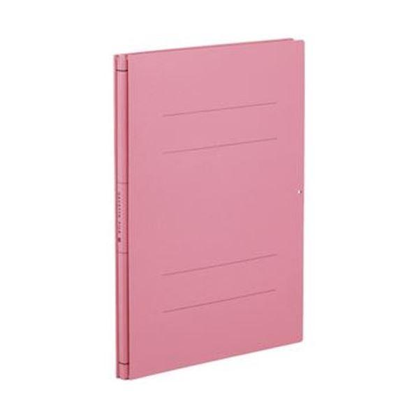 (まとめ)コクヨ ガバットファイル(中抜き 紙製)A4タテ 1000枚収容 背幅14~114mm ピンク フ-VN90P 1セット(10冊)【×3セット】