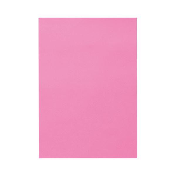 (まとめ) TANOSEE 色画用紙 八つ切 こいもも 1パック(10枚) 【×50セット】