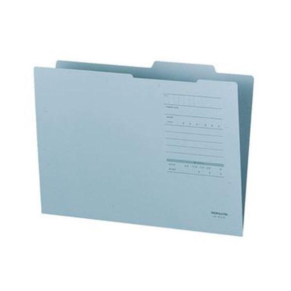 (まとめ)コクヨ A4ジャスフォルダー(Eタイプ)青 A4-IFE-B 1セット(10冊)【×20セット】