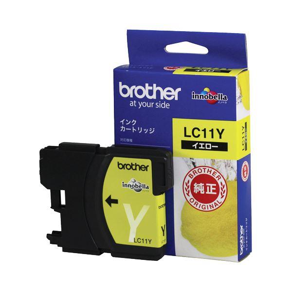 (まとめ) ブラザー BROTHER インクカートリッジ イエロー LC11Y 1個 【×10セット】