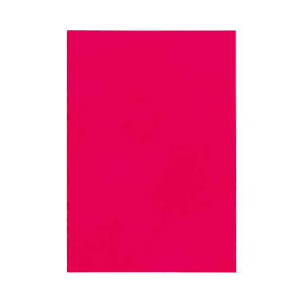 (まとめ) TANOSEE 色画用紙 八つ切 あか 1パック(10枚) 【×50セット】