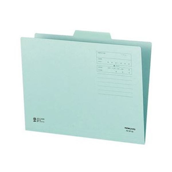 (まとめ)コクヨ 1/3カットフォルダー(カラー)A4 第2見出し 青 A4-3F-2B 1セット(10冊)【×20セット】