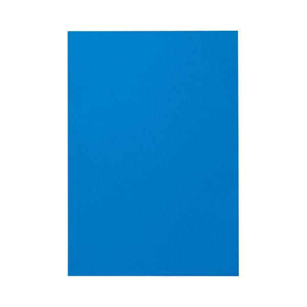 (まとめ) TANOSEE 色画用紙 八つ切 あお 1パック(10枚) 【×50セット】