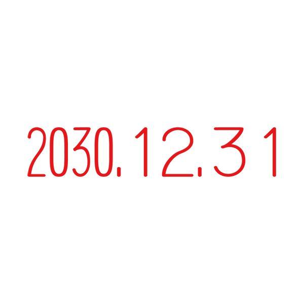 (まとめ)サンビー テクノタッチ回転印 本西暦日付3号 TK-CR03(×10セット)