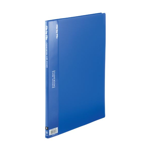 (まとめ) ビュートン クリヤーブック(クリアブック) A4タテ 10ポケット 背幅9mm ブルー BCB-A4-10B 1冊 【×50セット】