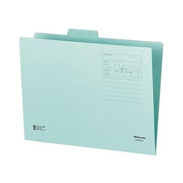 (まとめ)コクヨ 1/4カットフォルダー(カラー)A4 第2見出し 青 A4-4F-2B 1セット(10冊)【×20セット】