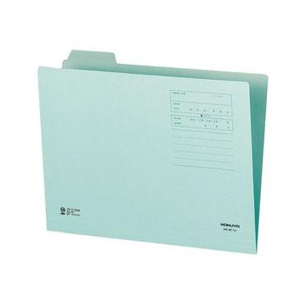 1/4カットフォルダー(カラー)A4 1セット(10冊)【×20セット】 A4-4F-1B 青 (まとめ)コクヨ 第1見出し
