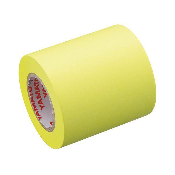 (まとめ) ヤマト メモック ロールテープ 蛍光紙詰替用 50mm幅 レモン RK-50H-LE 1巻 【×30セット】