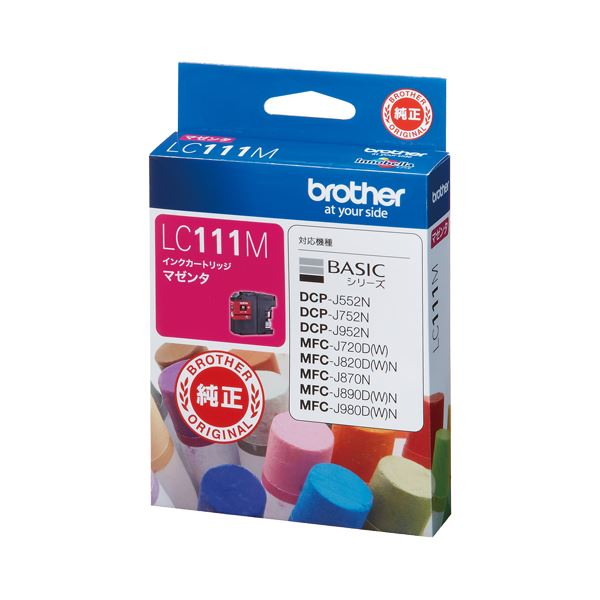 (まとめ) ブラザー BROTHER インクカートリッジ マゼンタ LC111M 1個 【×10セット】
