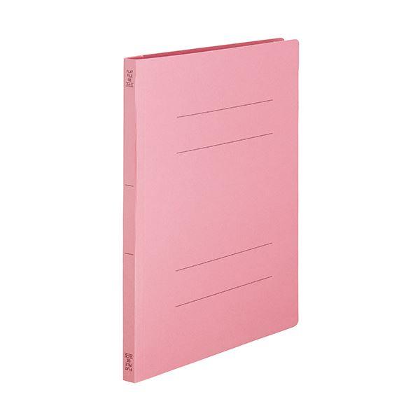 (まとめ) TANOSEEフラットファイルSE(スーパーエコノミー) A4タテ 150枚収容 背幅18mm ピンク1セット(100冊:10冊×10パック) 【×10セット】