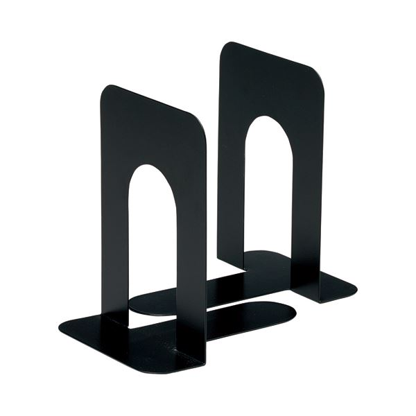 (まとめ) TANOSEE ブックエンド T型 大 ブラック 1組(2枚) 【×30セット】