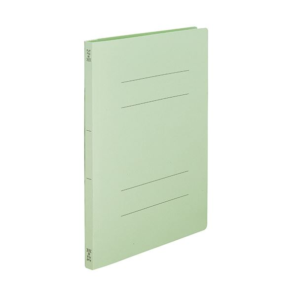 (まとめ) TANOSEEフラットファイルSE(スーパーエコノミー) A4タテ 150枚収容 背幅18mm グリーン1セット(100冊:10冊×10パック) 【×10セット】