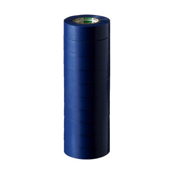 (まとめ) オカモト ビニールテープ No.470 19mm×10m 青 No.470-19x10 アオ 1パック(10巻) 【×30セット】