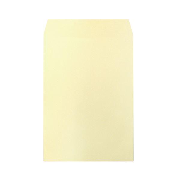 (まとめ) ハート 透けないカラー封筒 テープ付角2 パステルクリーム XEP473 1パック(100枚) 【×5セット】