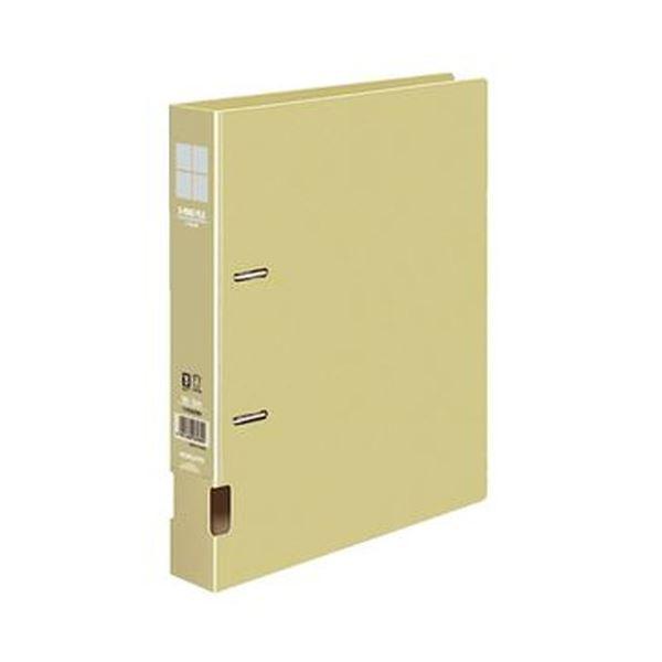 (まとめ)コクヨ DリングファイルS型再生PP表紙 B5タテ 2穴 300枚収容 背幅45mm 黄 フ-FD431NY 1セット(4冊)【×10セット】