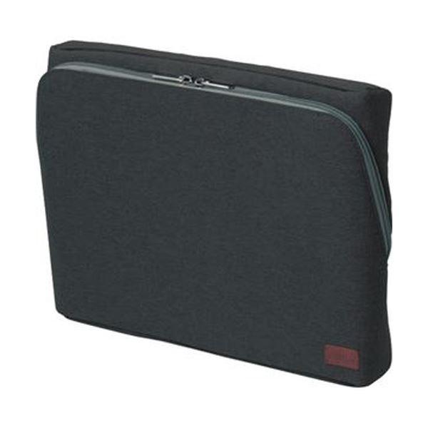 (まとめ)ソニック ユートリム スマ・スタ立つバッグインバッグ ワイドA4 ブラック UT-1905-D 1個【×3セット】