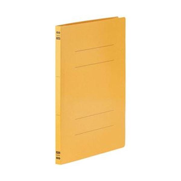 (まとめ)TANOSEE フラットファイルPPラミネート表紙タイプ A4タテ 150枚収容 背幅17.5mm イエロー 1パック(10冊)【×20セット】