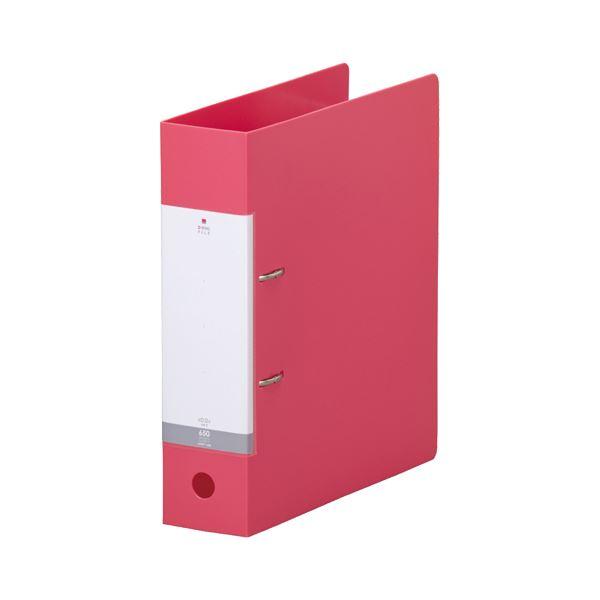(まとめ) リヒトラブ リクエスト D型リングファイル A4タテ 2穴 650枚収容 背幅74mm 赤 G2280-3 1冊 【×20セット】