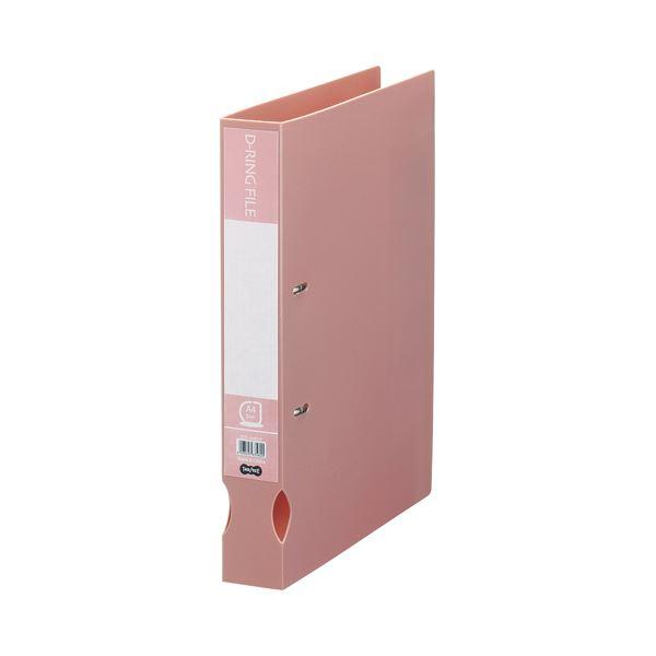 (まとめ) TANOSEE Dリングファイル(再生PP表紙) A4タテ 2穴 300枚収容 背幅43mm ピンク 1冊 【×30セット】