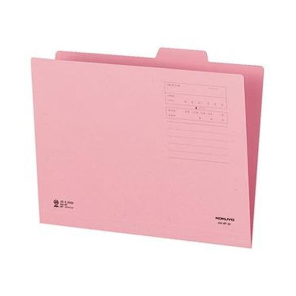 (まとめ)コクヨ 1/4カットフォルダー(カラー)A4 第3見出し ピンク A4-4F-3P 1セット(10冊)【×20セット】