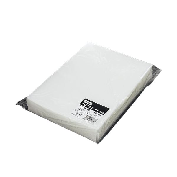信頼 ラベル貼りの簡易パッケージ まとめ 新作 大人気 TANOSEE クリアホルダー A4 1セット 600枚:100枚×6パック クリア ×3セット