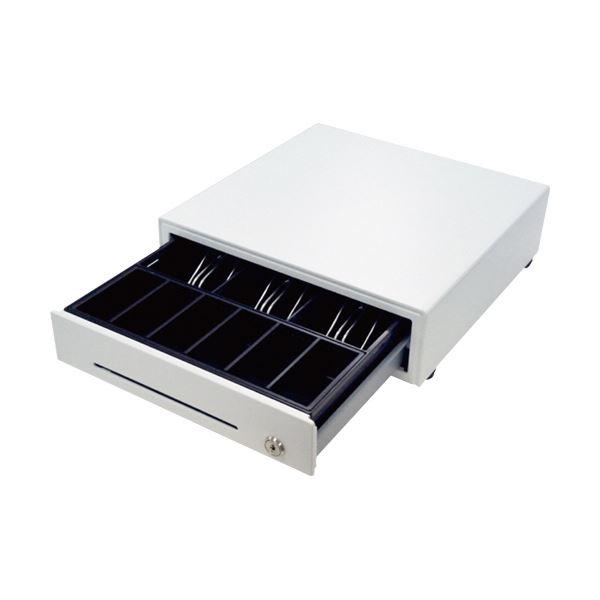 ビジコム手動式キャッシュドロア・ミニ(3B/6C) ホワイト BC-DW330HP-W 1台
