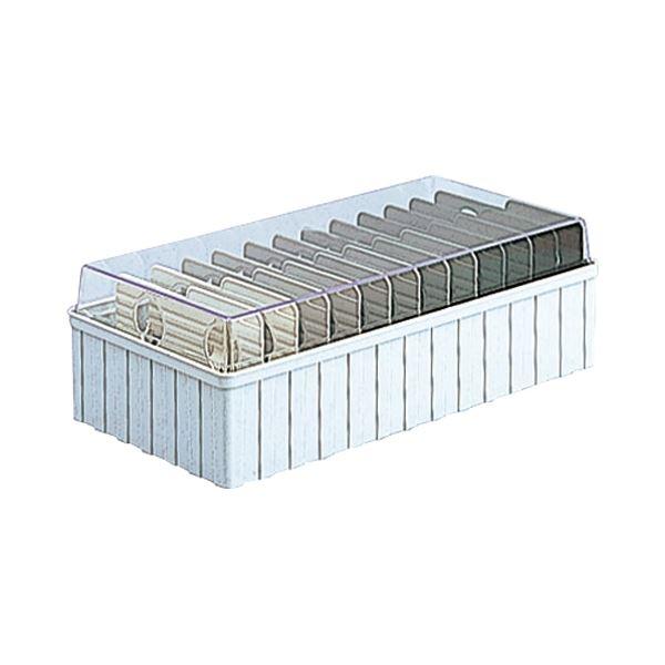 (まとめ)ナカバヤシ 名刺分庫 600名用ウォームグレー PHM-101WN 1個【×10セット】
