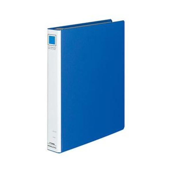 (まとめ)コクヨ ロックリングファイル(シングルレバー)A4タテ 4穴 220枚収容 背幅45mm 青 フ-TL434B 1冊【×10セット】