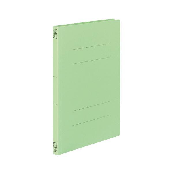 (まとめ) コクヨ フラットファイルV(樹脂製とじ具) A4タテ 150枚収容 背幅18mm 緑 フ-V10G 1セット(30冊:10冊×3パック) 【×5セット】