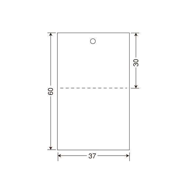 サトー タグ 標準 1号 プロパー60×37 544103451 1箱(20000枚:2000枚×10巻)