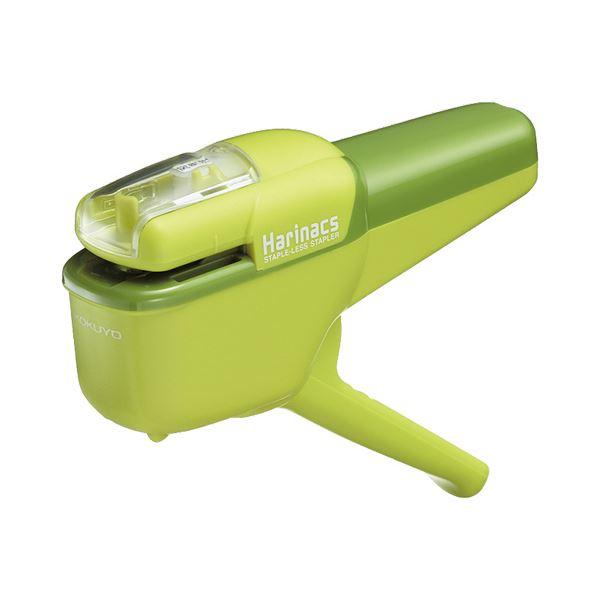 (まとめ) コクヨ 針なしステープラー(ハリナックス) ハンディタイプ 10枚とじ 緑 SLN-MSH110G 1個 【×10セット】