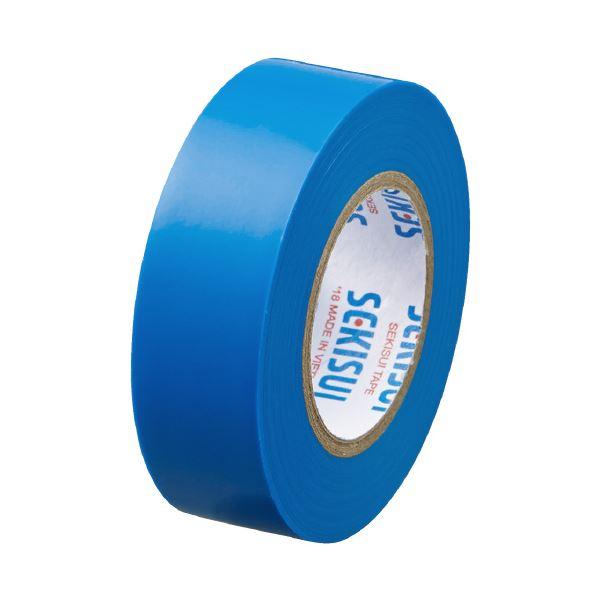 (まとめ)セキスイ エスロンテープ #360 19mm×10m 青 V360A1N(×100セット)