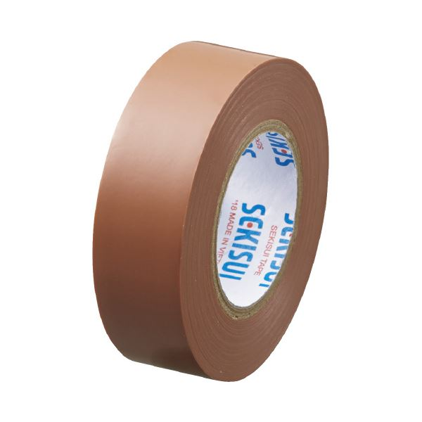 (まとめ)セキスイ エスロンテープ #360 19mm×10m 茶 V360B1N(×100セット)