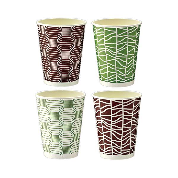 TANOSEE 断熱レリーフカップ 和-Taste 273ml(9オンス)1セット(1000個:50個×20パック)
