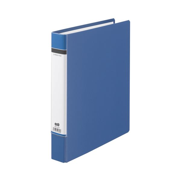 TANOSEE 2穴 (まとめ) 背幅50mm 320枚収容 【×30セット】 Dリングファイル(貼り表紙) A4タテ 1冊 青