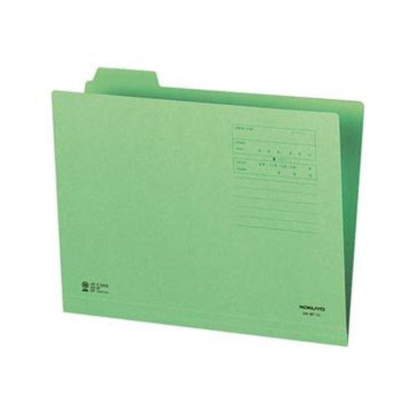 (まとめ)コクヨ 1/4カットフォルダー(カラー)A4 第1見出し 緑 A4-4F-1G 1セット(10冊)【×20セット】