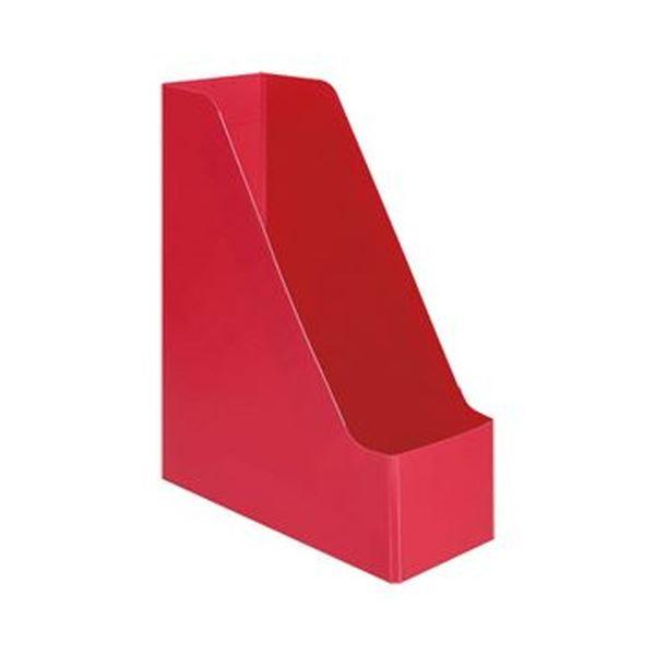 (まとめ)TANOSEE PP製ボックスファイル(組み立て式)A4タテ レッド 1セット(10個)【×5セット】