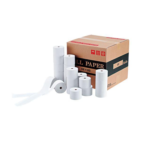 クリエイティア 感熱ロール紙幅80mm×長さ65m 直径80mm 芯内径12mm ノーマル保存 SR8080 1セット(50巻)