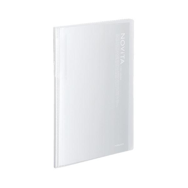 コクヨ カードホルダー(ノビータ)(固定式)A4 600名 ヨコ入れ 透明 メイ-N260T 1セット(10冊)