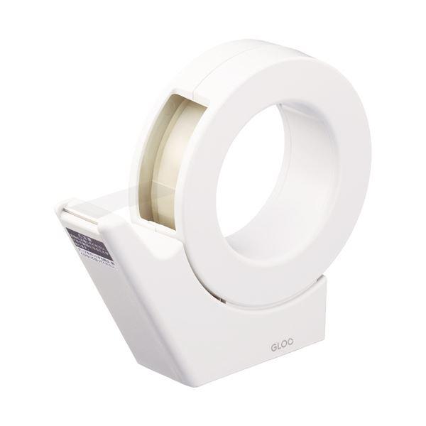 (まとめ)コクヨ グルーテープカッター(吸盤ハンディタイプ・大巻)白 T-GM500W 1個【×5セット】