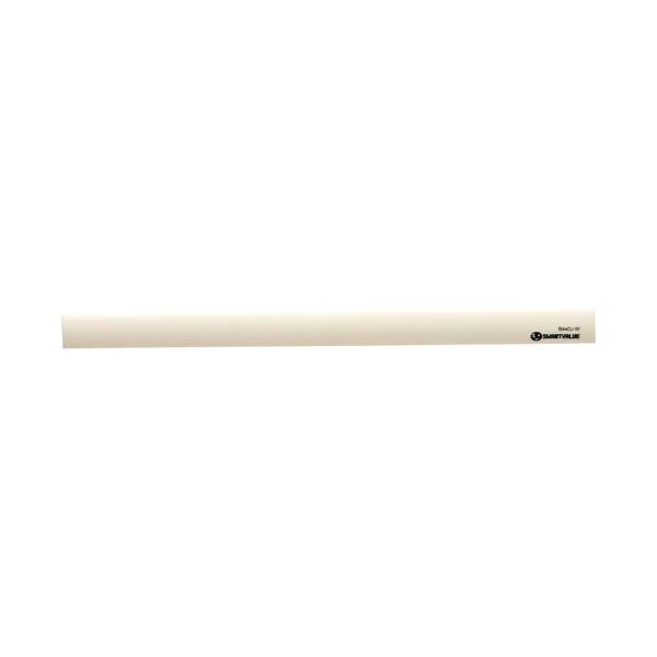 (まとめ) スマートバリュー マグネットバー220mm 白 10本 B440J-W-10【×5セット】
